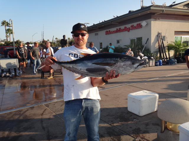 Jeff Hull with his 42# jackpot yellowfin from the Searcher trip Aug 26-28!
