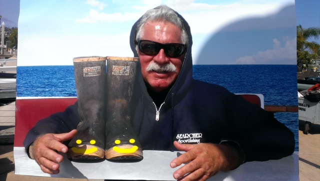 Luck o' the bootz was with Mike Brown today with yellowtail fishing!