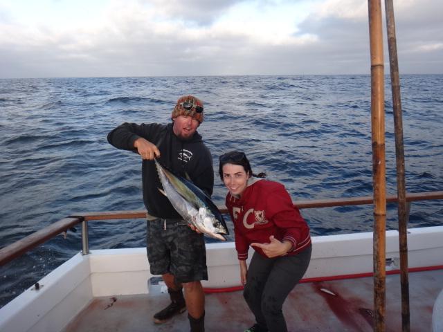 Her first yellowfin tuna!