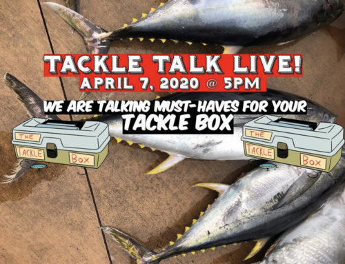 Tackle Talk Live! on Tuesday, April 7 @ 5 p.m.